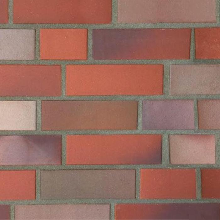 Кирпич облицовочный 5054 Riesenbeck rot-bunt-geflammt glatt NF Hö