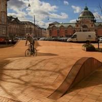 Тротуарный кирпич Kopenhagen gelb-Kohlebrand